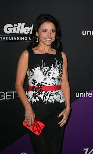 Julia Louis-Dreyfus attends Unite4:humanity, on Thursday, Feb., 27, 2014 in Culver City, Calif. (Photo by J. Emilio Flores/Invision/AP)