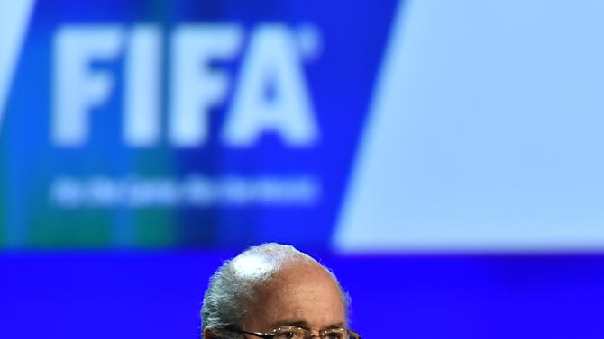 President of FIFA Sepp Blatter delivers a speech during the 64th FIFA Congress in Rio de Janeiro, Brazil, on June 11, 2014