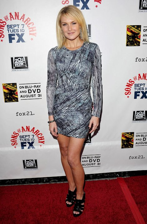 "Laura Allen attends FX's ""Sons Of Anarchy"" Season 3 premiere on August 30, 2010, in Hollywood."