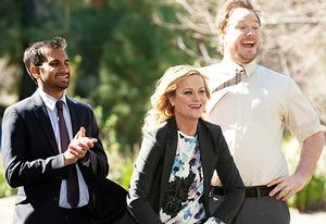 Aziz Ansari, Amy Poehler, Chris Pratt  | Photo Credits: Colleen Hayes/NBC