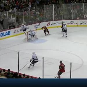 Matt Greene Hit on Zach Parise (10:59/1st)