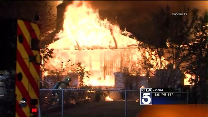 Fire Destroys South L.A. Home, Displacing Family on Thanksgiving