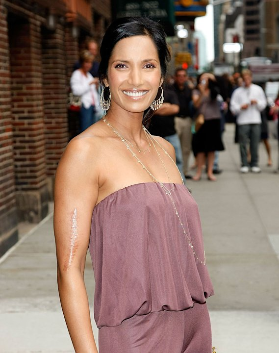 Padma Lakshmi visits &quot;Late Show with David Letterman&quot; at the Ed Sullivan Theater on June 17, 2009 in New York City. 