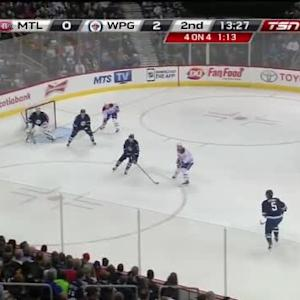 Ondrej Pavelec Save on Brendan Gallagher (06:37/2nd)