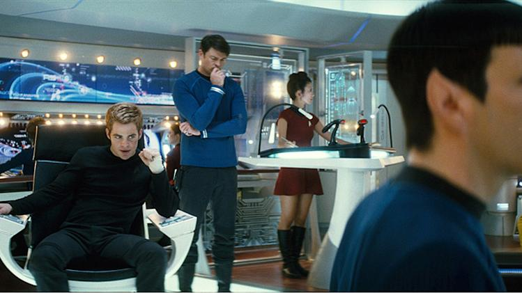 Star Trek Production Photos 2009 Paramount Pictures Chris Pine John Cho Karl Urban Zachary Quinto