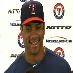 Seahawks QB Enjoys Time With Texas Rangers