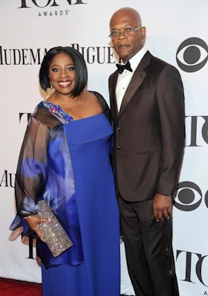 Samuel L. Jackson, right, and LaTanya Richardson arrive at the 68th annual Tony Awards at Radio City Music Hall on Sunday, June 8, 2014, in New York. (Photo by Charles Sykes/Invision/AP)
