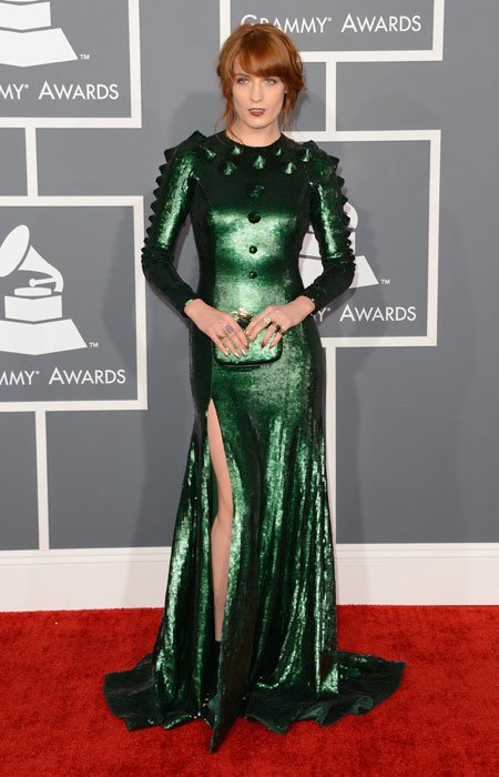 Singer Florence Welch arrives at the 55th Annual GRAMMY Awards at Staples Center on February 10, 2013 in Los Angeles, California. (Photo by Jason Merritt/Getty Images)
