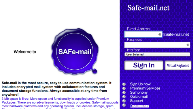 Want to email people without the FBI reading it? Try Safe-mail