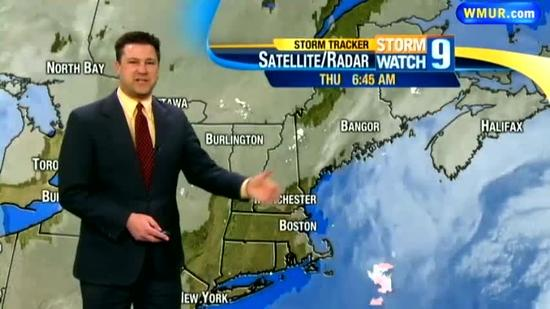 Scattered snow showers overnight