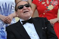 Las Vegas casino boss Sheldon Adelson (pictured in April) on Thursday unveiled plans to build a scaled down replica of the Eiffel Tower as part of a new $3 billion gambling resort in Macau