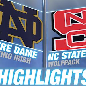 Notre Dame vs NC State | 2014-15 ACC Men's Highlights