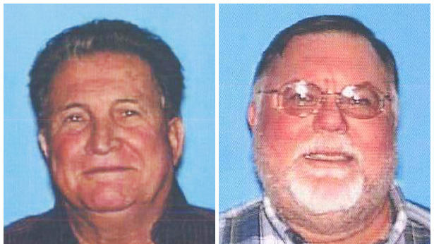 This combo made from photos provided by the the California Department of Motor Vehicles shows Robert Gully, 73, left, and Jerome Votaw, 62. Gully on Tuesday, Feb. 21, 2012 shot and killed Votaw, the treasurer of a remote-controlled airplane club who police said was having an affair with the attacker's estranged wife, before turning the gun on himself. (AP Photo/Calif. Department of Motor Vehicles)