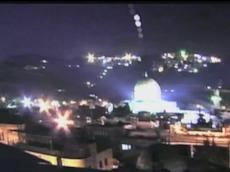 UFO hovers over Jerusalem