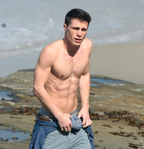 Hot! Colton Haynes Reveals Six-Pack Abs in Malibu