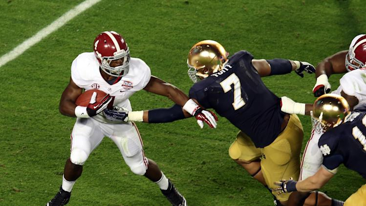 NCAA Football: BCS National Championship-Alabama vs Notre Dame