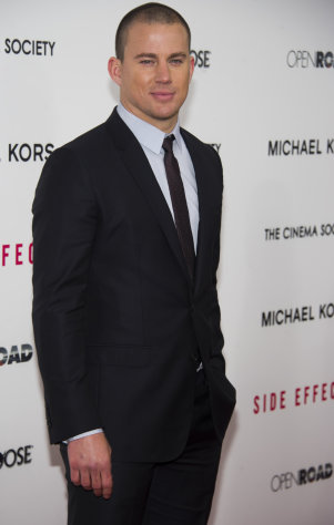 Channing Tatum attends the premiere of &quot;Side Effects&quot; hosted by the Cinema Society and Open Road Films on Thursday, Jan. 31, 2013 in New York. (Photo by Charles Sykes/Invision/AP)