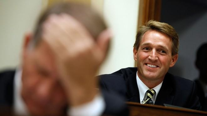 Pond scum is better than Sen. Jeff Flake, says... Sen. Flake.