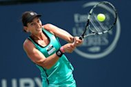 Chanelle Scheepers during her Mercury Insurance Open match against Varvara Lepchenko on July 18. Scheepers, whose WTA win last year in Guangzhou was the first for a South African in eight years, lost her opener 6-2, 6-1 to Magdelena Rybarikova at the Washington Open
