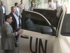 Raw: UN Team Returns to Syria