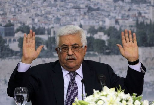 Palestinian president Mahmud Abbas speaks in the West bank city of Ramallah. Abbas said on Saturday he will make a bid on September 27 to obtain non-member status at the United Nations
