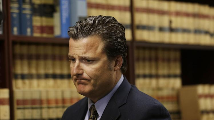 Robert Allard, an attorney for the family of Audrie Pott, speaks during an interview at his office in San Jose, Calif., Friday, April 12, 2013. Allard said that Pott committed suicide after she was sexually assaulted by three of her friends and a photo surfaced online. (AP Photo/Jeff Chiu)