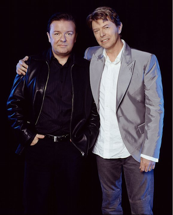 Ricky Gervais and David Bowie HBO's Extras