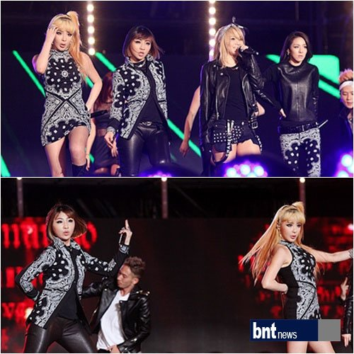 2NE1 heated up the K-collection in Okinawa