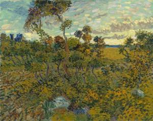 "A painting titled ""Sunset at Montmajour"" is seen in this handout photo received from The Van Gogh Museum in Amsterdam"