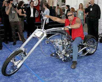 """American Chopper""'s Paul Teutul Sr. with the motorcycle he custome built for the Los Angeles premiere of Twentieth Century Fox's I, Robot"