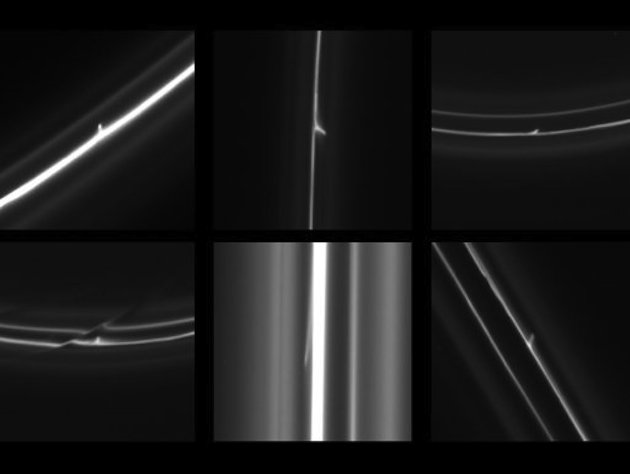 Cassini Strange object  Trails in Saturns F Ring SaturnFRing