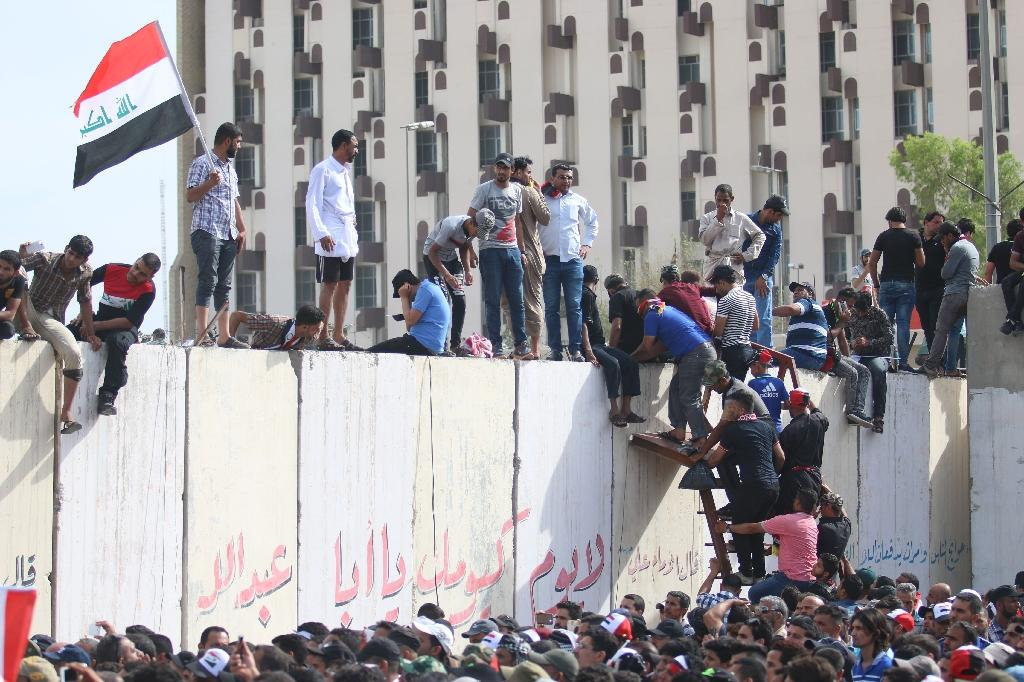 Protesters storm parliament in Iraq's Green Zone
