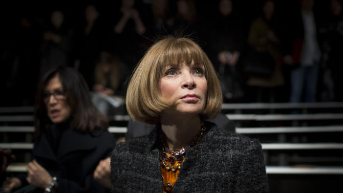 Vogue Editor in Chief Anna Wintour attends the Michael Kors Autumn/Winter 2013 collection during New York Fashion Week
