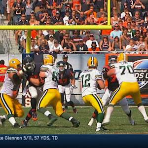 Green Bay Packers quarterback Aaron Rodgers TD pass nullified by penalty