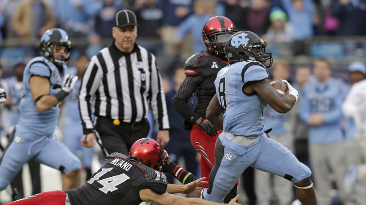 N. Carolina beats Cincinnati 39-17 in Belk Bowl