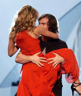 Hosts Sarah Michelle Gellar and Jack Black MTV Movie Awards 6/1/2002