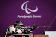 LONDON, ENGLAND - SEPTEMBER 04:  Abdulla Sultan Alaryani of United Arab Emirates competes in the mixed R6-50m Rifle Prone- SH1 final round on day 6 of the London 2012 Paralympic Games at The Royal Artillery Barracks on September 4, 2012 in London, England.  (Photo by Dan Kitwood/Getty Images)