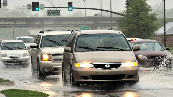 Scattered flooding as storms drench the Southeast