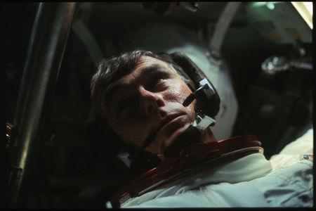 FILE PHOTO - Astronaut Gene Cernan is pictured in the Command Module during the outbound trip from the moon during the Apollo 17 missionin this NASA handout photo