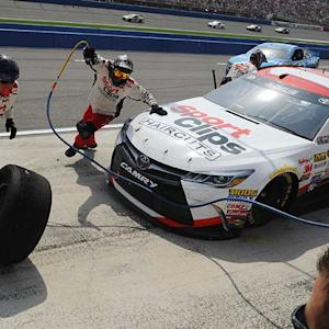 Hamlin penalized for uncontrolled tire