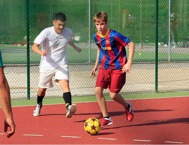 Justin Bieber Plays Soccer Madrid