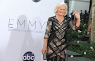 "Actress Glenn Close arrives at the 64th Primetime Emmy Awards at the Nokia Theatre on Sunday, Sept. 23, 2012, in Los Angeles. Close is nominated for best actress in a drama series for her role as Patty Hewes in ""Damages."" (Photo by Jordan Strauss/Invision/AP)"