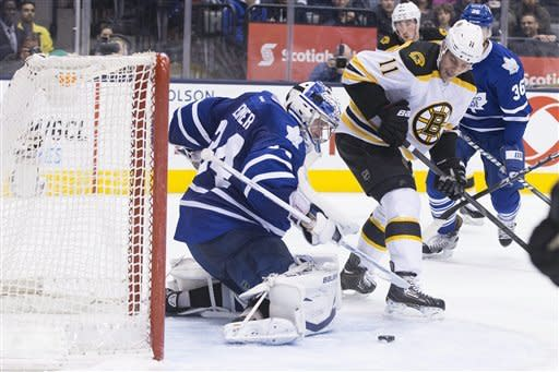 Maple Leafs snap 8-game skid to rival Bruins