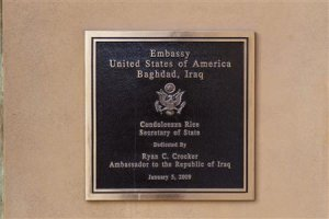 File photo of a commemorative plaque hanging on the …