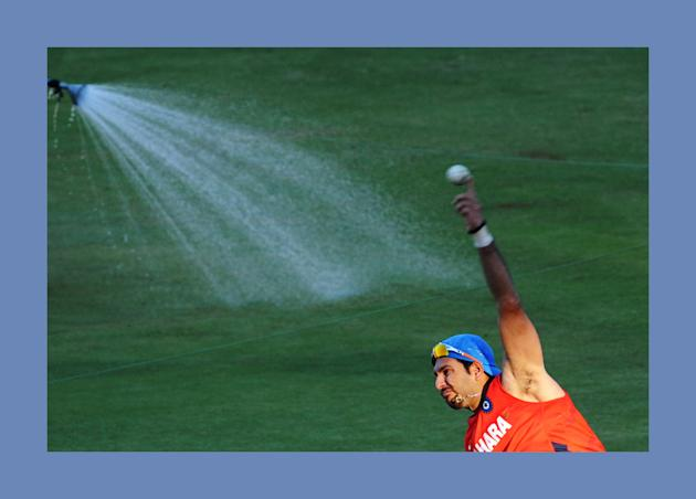 Indian cricketer Yuvraj Singh during a t