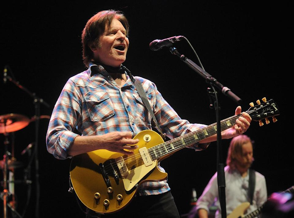 Musician John Fogerty performs on stage at the Sound City Players concert at The Manhattan Center Hammerstein Ballroom, Wednesday, Feb. 13, 2013, in New York. (Photo by Brad Barket/Invision/AP)