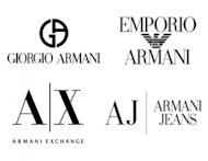 5 Big Fashion Brand Logos and the 21 Design & Marketing Tips You Can Learn From Them image Armani branch logos 300x232