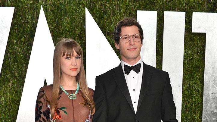 2013 Vanity Fair Oscar Party Hosted By Graydon Carter - Arrivals: Andy Samberg and Joanna Newsom