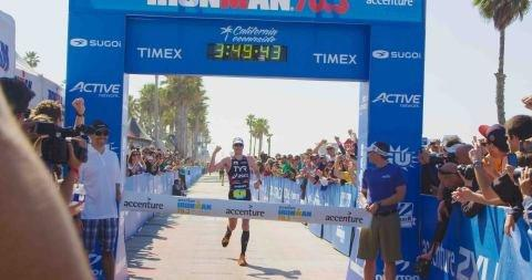 ASICS Elite Triathlete Andy Potts Wins at Ironman 70.3 California
