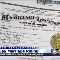 State Supreme Court Halts Gay Marriages In Boulder